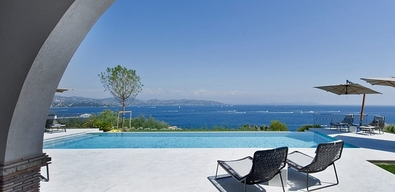 View from luxury villa