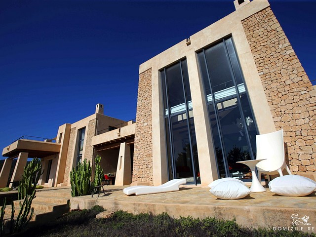 Exclusive and stylish design villa with pool and sea views in Es Cubells