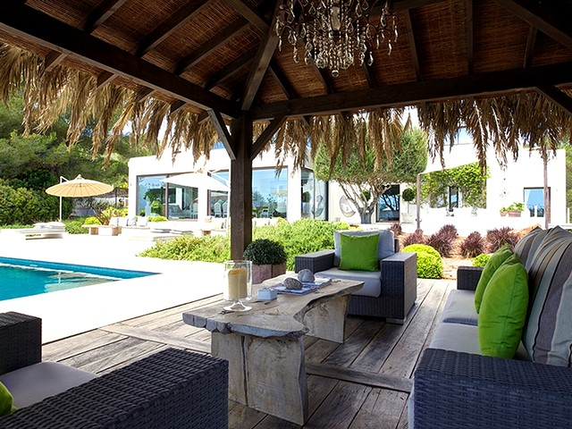 chill out area at luxury villa