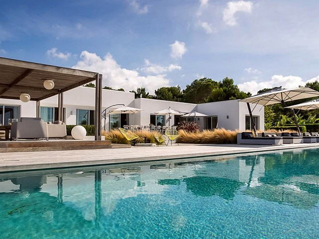 Luxury villa with sea view near Cala Comta beach in Ibiza
