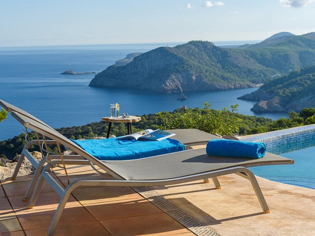 view from ibiza holiday villa