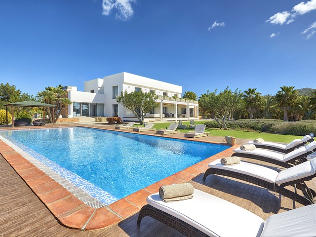 A luxury villa rental on Ibiza