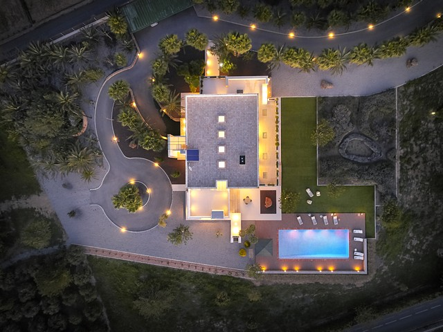 ariel view of luxury villa
