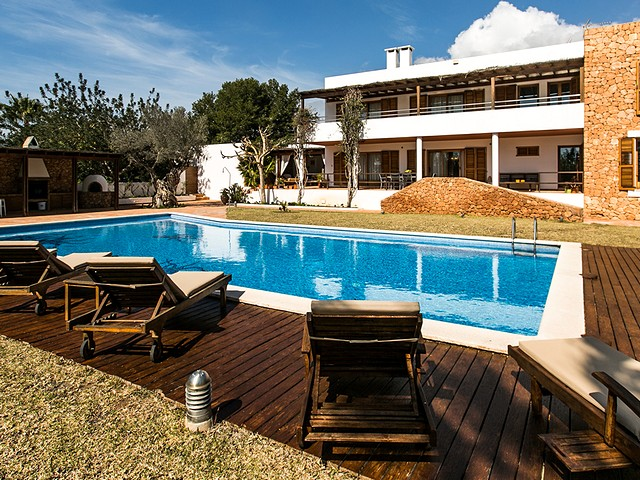 luxury rental villa in south Ibiza