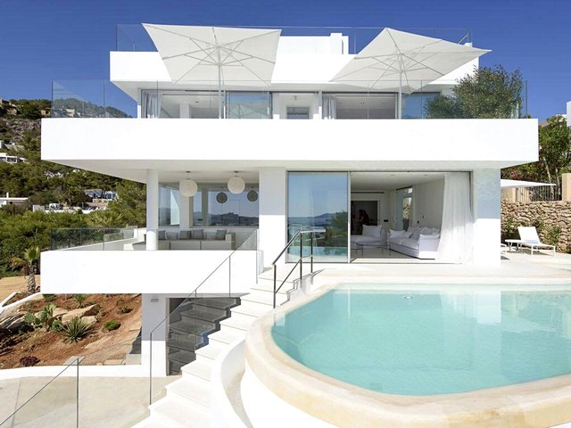 view of ibiza villa with private pool