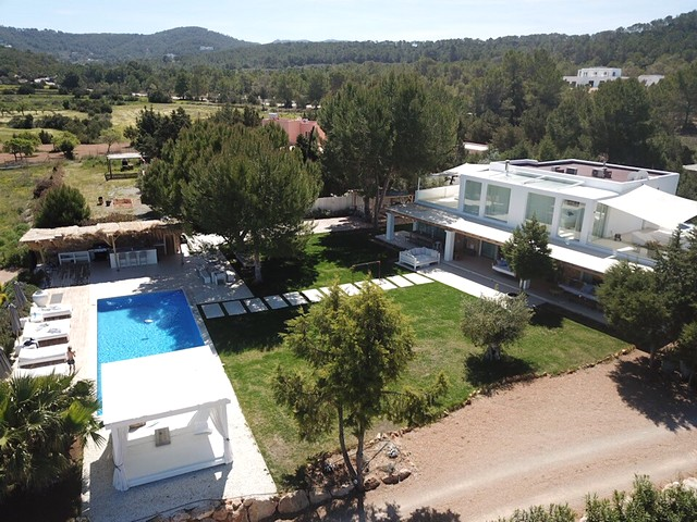 view of the ibiza villa and pool