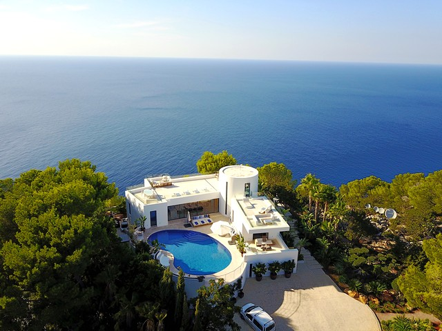 Luxury 5 bedroom seafront villa to rent in Ibiza, Spain
