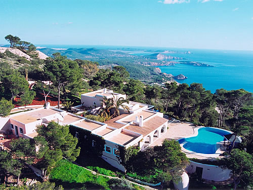 A stunning Ibiza villa rental in Es Cubells, San Jose, South West