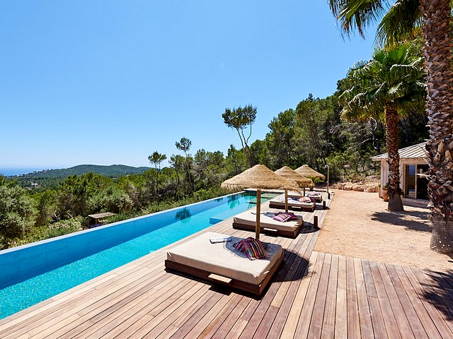 View from Ibiza villa with pool