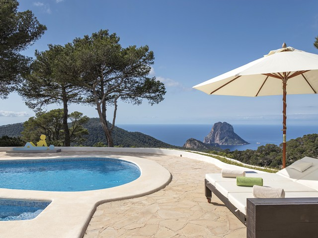 View from Ibiza villa pool
