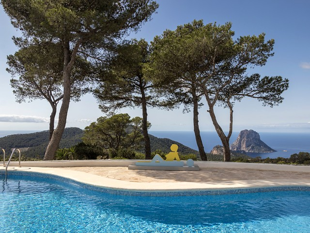 View from Ibiza villa pool 2