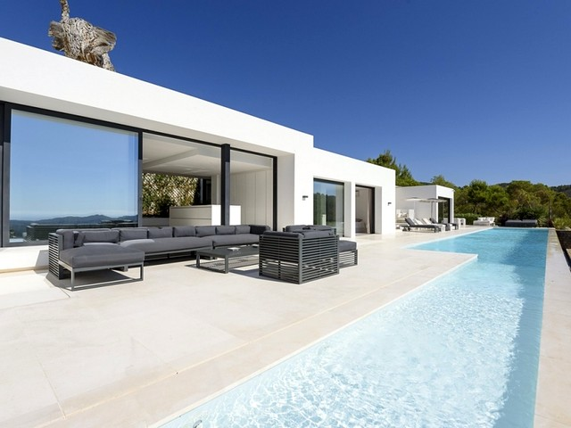 the holiday villa and pool