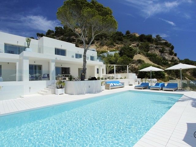 Luxury villa for rent on the waterfront in Es Cubells, Ibiza