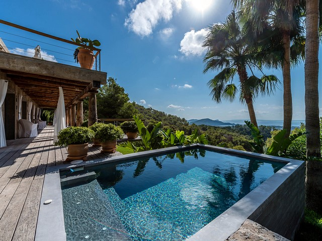 pool and view from ibiza villa