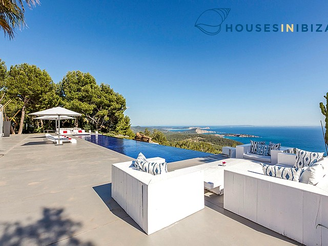 High-end Ibiza villa rental on the South West of the island