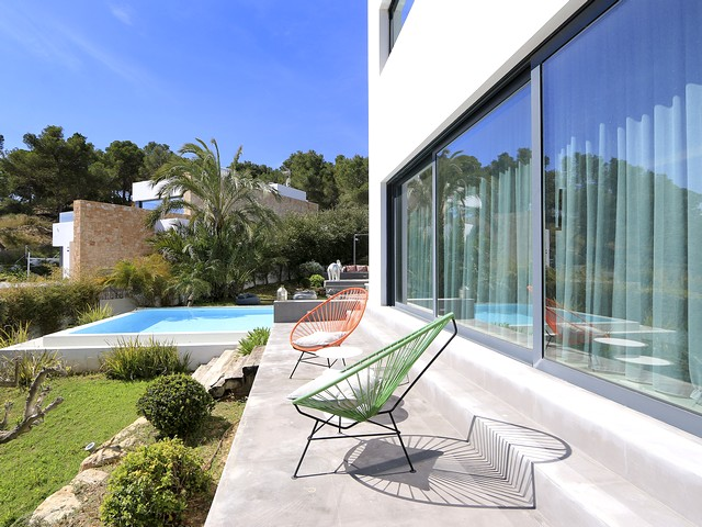 the pool and ibiza villa