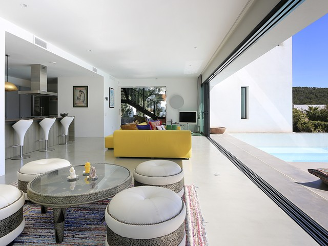inside the private villa in Ibiza