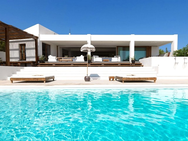 A luxury villa with tennis court in Talamanca, nr Ibiza Town