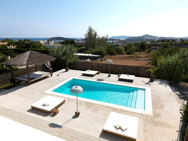 pool and view from luxury ibiza villa