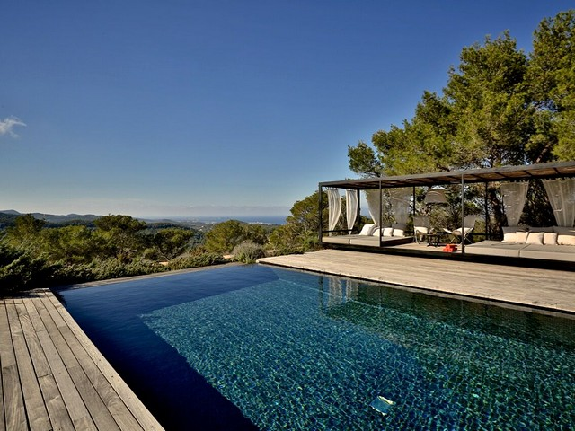 pool and view from luxury villa