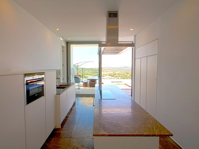 kitchen area of the ibiza villa