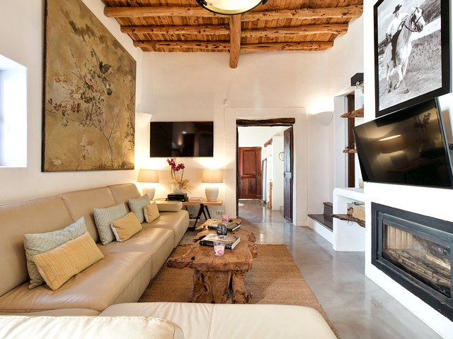 living room in finca