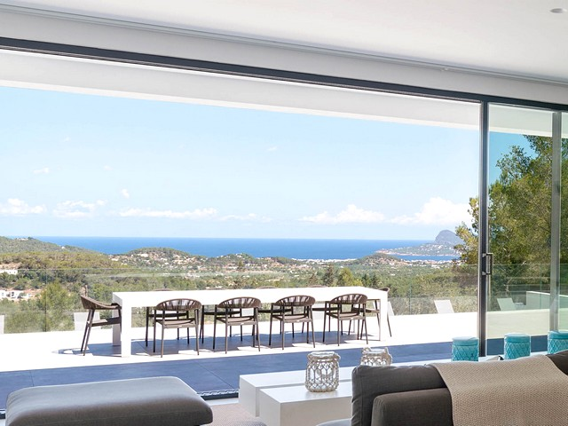 the view from luxury ibiza holiday villa