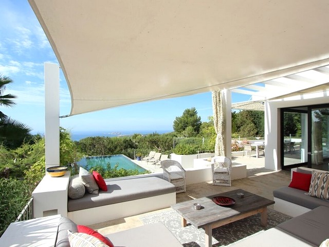 view from luxury villa in Ibiza