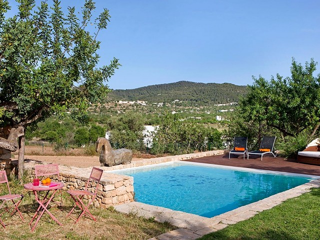 pool and view from holiday villa