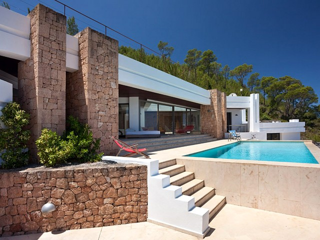 Luxurious rental villa up in the hills close to Cala Carbo beach - San Jose area