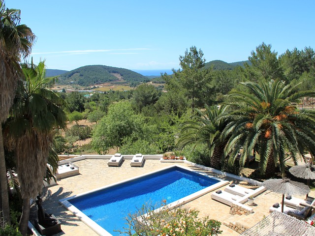 pool and view from Ibiza finca